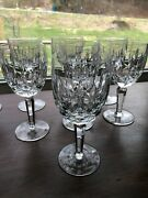 Waterford Kildare Set Of 8 Water Goblets - Pristine Crystal Large Glasses