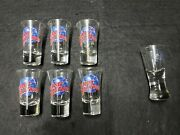 Rare Lot Of 7 Planet Hollywood Shot Glass Collection -