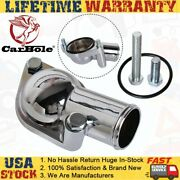 Thermostat Aluminum Water Neck 15anddeg Engine Coolant For Sbc Bbc Chevy Chrome
