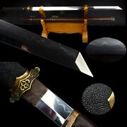 Chinese Sword Tang Dao Hand Forged High Carbon Steel Sharp Clay Tempered 3910