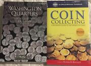 P And D Statehood Washington Quarter 1999-2008 2 Folders W/coin Collecting Book
