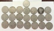 22 - Different V Nickels 1887-1912 Nice Coins - L@@k At Pictures 2906