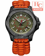 New Victorinox Swiss Army 241800 I.n.o.x Carbon Le With Two Strap Torch Andknife