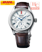 New Seiko Presage Spb093j1 Automatic Menand039s Watch With Porcelain Dial Leather Men