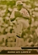 1/1 Greg Maddux 2005 Topps Update Yellow Printing Press Print Plate Cubs Braves