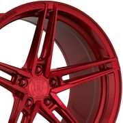 4 20x9 20x12 Staggered Rohana Wheels Rfx15 Red Concave Rims A4