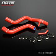 Red Water Silicone Radiator Hose Kit For Ford Focus 2.0l 2.3l Zx3 Zx5 2005-2007