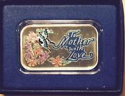 To Mother With Love Handpainted Limited Edition Vintage Silver 1-ounce Bar