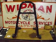 Bike Jack Motorcycle Stand/lift, Black, Used, Made In Usa, Univ.fit Most M/c's.