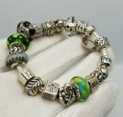 Authenthic Pandora Bracelet Ale 925 Size 7 Inch Gold Two Tone Sterling Silver