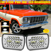 Pair 7x6 Projector Led Headlights 120w High Low Spot Flood Beam For Ford F-150