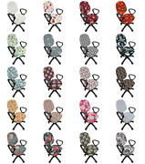 Ambesonne Pastel Floral Office Chair Slipcover Protective Stretch Cover