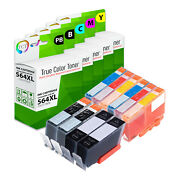 10pk Tct Compatible 564xl Hy Combo For Hp 7520 7510 6510 6520 Ink Bk Pb C M Y