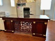 Rosewood Executive Desk And Credenza