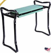 Outsunny Padded Garden Kneeler And Seat Bench Padded Foldable Garden Stool