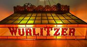 Rare Antique/ Vintage Hanging Wurlitzer Jukebox/ Piano Stained Glass Look Light