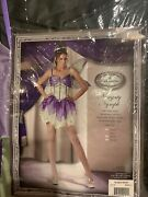 Nwot Incharacter Naughty Nymph Costume Adult Size S 4-6 Tinker Bell Wings Crown