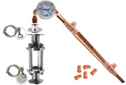2 Tri Clamp Sight Glass And Copper Reflux Still - Diy Kit - Distill From Beer Keg