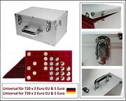 Look Alu Coin Case Gigant 14 Tab With 672 Round Compartments For 2 - 5 Euro