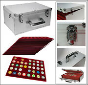 Look Alu Collector Case Bottle Capsules Gigant Wine Red Compartments Round