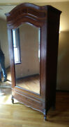 1920and039s Tall Vintage Armoire Wardrobe Or Shelves Great Condition