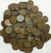5000 Coin Bag 1909-1939 Kentucky Whiskey Barrel Hoard - Wheats With Steel Cents