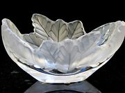 Exquisite Frosted Lalique Crystal 'compiegne' Bowl—includes Original Box