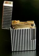 Gold S.t. Dupont Lighter - Made In Paris France Comes With Original Case