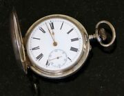 Antique Silver, Hunter Case Pocket Watch In Good Condition
