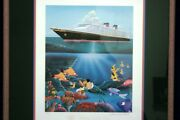 Disney Don Ducky Williams Framed Artist Proof Cruise Line Lithograph
