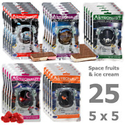 25 Pcs. Astronaut Space Food - 5 Different Sorts Of Ice Cream And Fruits