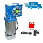 Ac Electric Worm Geared Motor 120w 110/220v 50hz With Speed Controller Low Speed