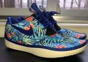 Nike Solarsoft Moccasin Sneakers Sz 11 Floral Blue Flower