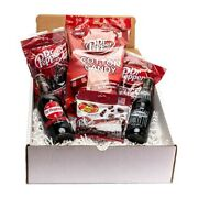 Assortment Dr Pepper And Soda Pops Cotton Candy Jelly Beans Gummy Bottles Gift Box