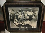 Muhammad Ali And Beatles Autograph 16x20 Framed - Cassius Clay Signed Photo - Jsa