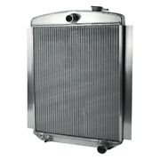 For Chevy Truck 47-55 Afco 80138-p-sp-y Street Rod Performance Radiator W Fan