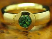 18kt 750 Yellow Gold Ring 080ct Peridot Decorations/ Solitaire/ 123g/ Rg 535