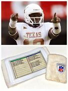 Vince Young Game Used Worn Texas Longhorns Wristband Playbook Storage Locker Nfl