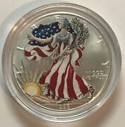 1999 Painted / Colorized Obverse 1 Ounce American Silver Eagle-uncirculated 214