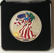 2000 Hand Painted -1 Ounce American Silver Eagle-uncirculated   1334