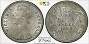 India 1893 -c Silver One Rupee,sw-6.133 Ms63