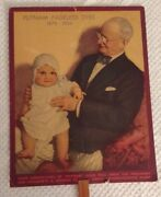 Putnam Fadeless Dyes Tints Advertising Fan Klineand039s Drug Store Reading Pa