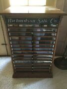 Antique Spool Cabinet Richardson Silk Co. Super Rare Early 1900andrsquospick Up.