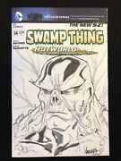 Swamp Thing 14 Variant Cover Sketch Original Jim Hanna Art Snyder Paquette Nm