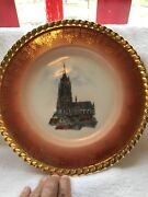 Krautheim Selb-k And A-germany-adelberg-10 3/4andrdquo Gold Trimmed Plate-church Pix