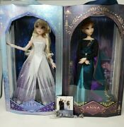 2020 Disney 17 Frozen 2 Queen Anna And Elsa Dolls With Olaf Key Limited Edition