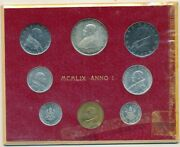 1959 Vatican City 8 Coin Mint Set-red Card-gorgeous Unc Coins Ships Free