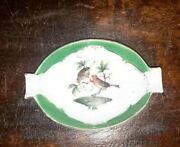 Herend China Baroness Rothschild Bird Insects Antique Porcelain Ashtray Trinket