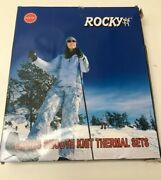 Rocky Womens Thermal 2 Pc Long John Underwear Set Top And Bottom Smooth Knit, S