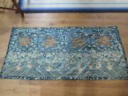 Superb Antique Chinese Gold Thread Dragon Embroidery Measures 72 X 34 Inches